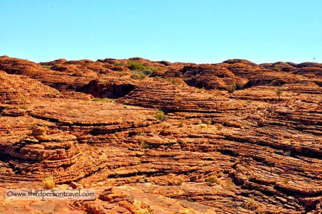 Our ancient earth. Weathered sandstone domes on the rim of King's Canyon, Central Australia
