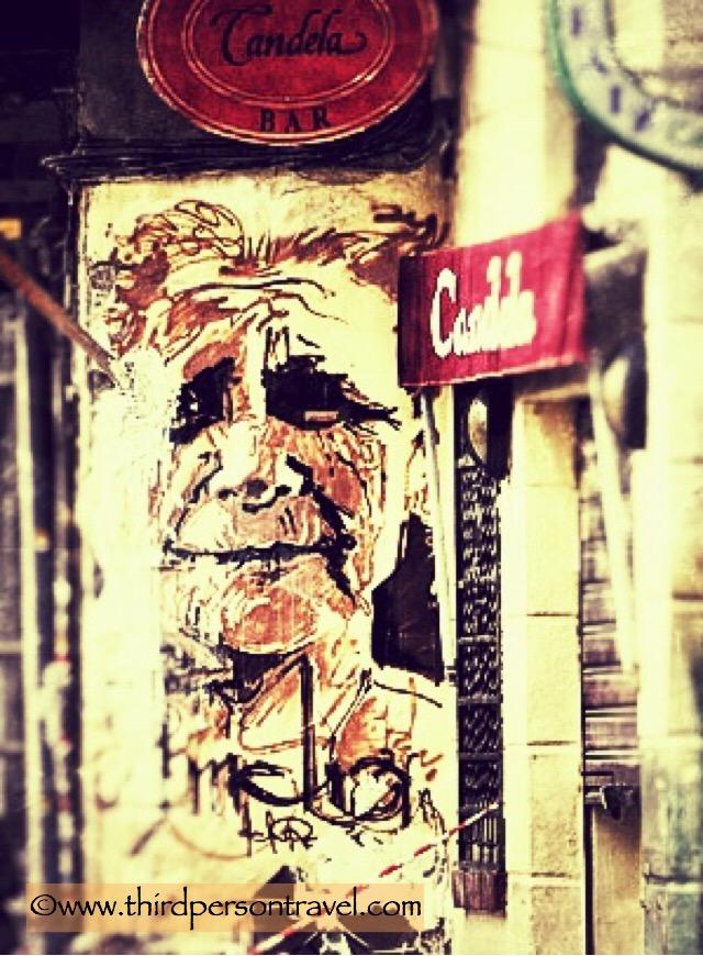 Aged beauty, grafitti, Granada, Spain