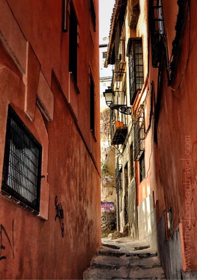 Narrow Alleyway, Granada, Spain